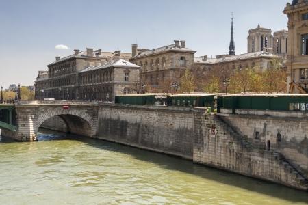 View of Seine River and Cite Island - Paris, France. photo
