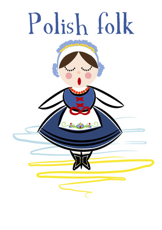 Traditional Polish Costume (Kaszuby) - Vector illustration. Vector