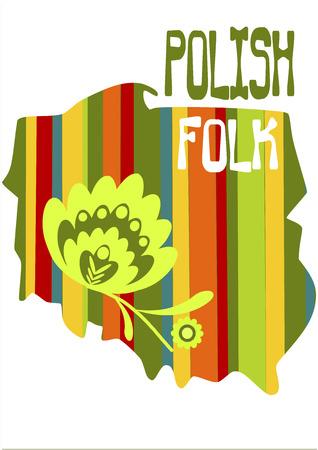 Polish folk - country shape. Vector illustration.