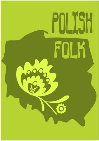 folkart: Polish folk - country shape. Vector illustration.