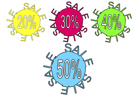 Sale sign - save money vector illustration discount labels. Vector