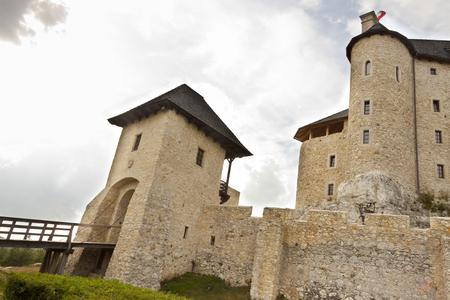 bobolice: Bobolice - gate to old stony castle. Poland, Silesia.