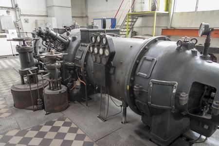 Old steam turbine - Poland.