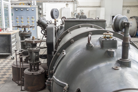 steam turbine: Old steam turbine - Poland.