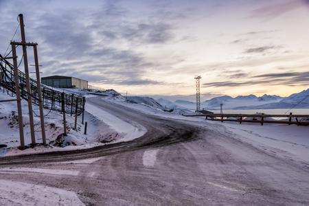 communists: Barentsburg - Russian village on Spitsbergen, Norway.