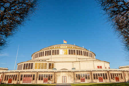 wroclaw: Hala Stulecia (Centennial Hall) also known as Hala Ludowa (Peoples Hall) in Wroclaw, Poland, UNESCO World Heritage Site Editorial