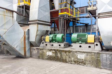 fumes: Industrial fumes ventilators system - Poland. Stock Photo