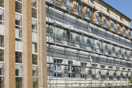 Insulation for thermal protection. Work on scaffolding.