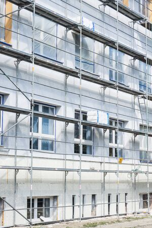modernization: Insulation for thermal protection. Work on scaffolding.
