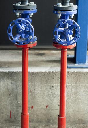 safety: Blue safety valves