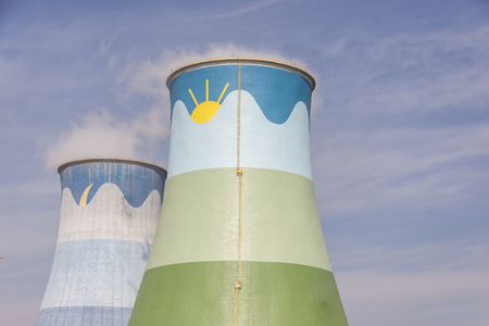 cooling towers: Cooling towers - coal power station in Opole, Poland.