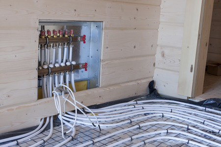 classifier: New floor heating system Stock Photo