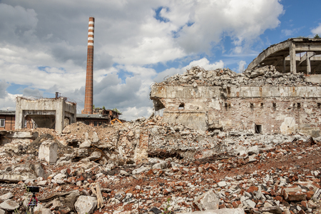 Ruins of Paper Mill in Kalety, Silesia, Poland.