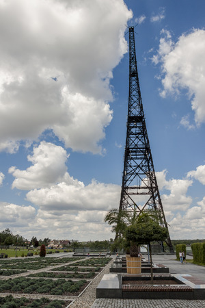 provocation: Historic radiostation tower in Gliwice, Poland (the highest wooden building on the world - 111m). The place of Nazi provocation on August 31, 1939.
