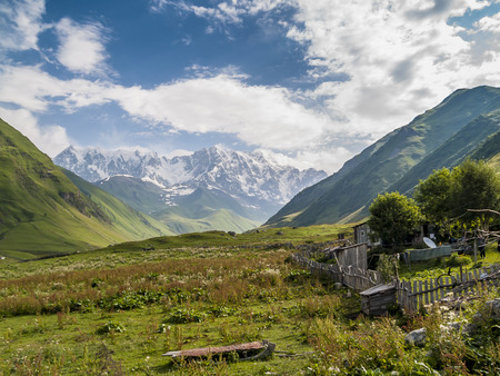 swanetia: Ushguli - the highest inhabited village in Europe. Georgia on Caucasus, Svaneti region.