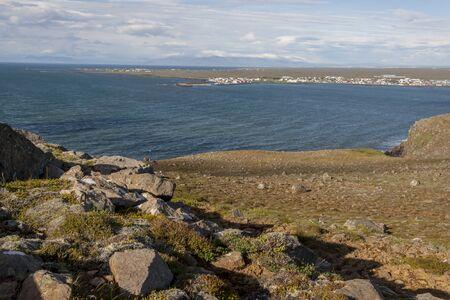 icelandic: View on Stakksfjordur fjord - Beauty Icelandic landscape.