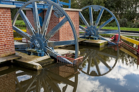 Historic canal Elblaski. The ramp Jelenie in Jelonki. Poland, Europe.
