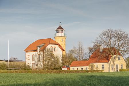 Lighthouse Augustenhof, Denmark, Europe. Stock Photo