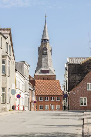 View on old town - Tonder in Denmark, Europe.