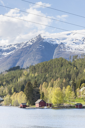 Hornindalsvatnet in Norway. Crossroads number 15 and E39.