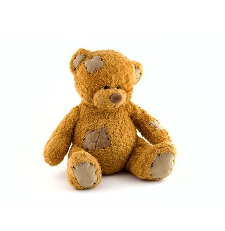 white bear: Cute teddy bear at isolated white background