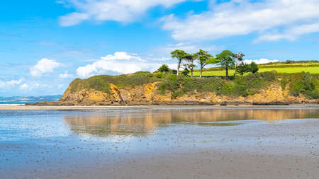 Douarnenez in Brittany, panorama of the Ris beach in summer