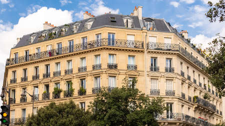 Paris, beautiful building, typical parisian facade