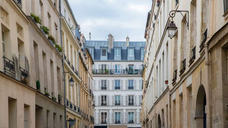 Paris, typical buildings in the Marais, in the center of the french capital Stock fotó