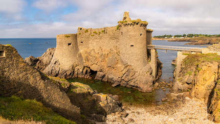 Yeu island in France, beautiful landscape, the ruins of the ancient castle