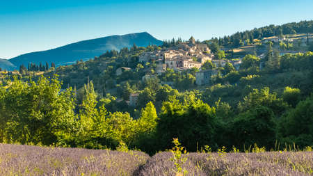 Banon in Provence, beautiful village with lavender fields