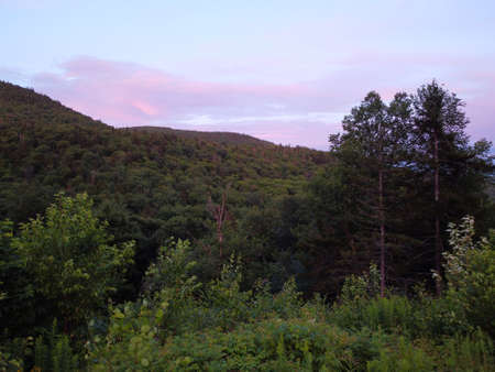 view of a sunset on the mountain