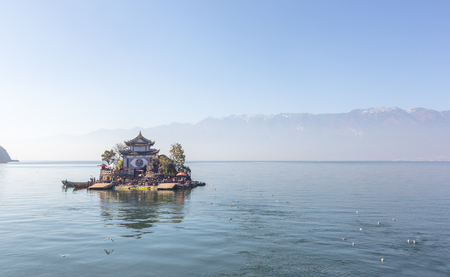 Xiao putuo island on erhai lake in Yunnan , china . large copy space