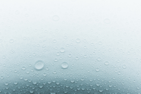 Rain droplets on glass background