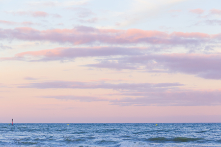 Pastel color sunset sky over the sea . Copy space .