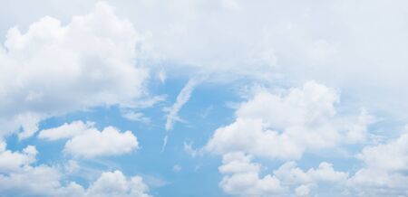 panorama of blue sky with white clouds during day , graphic ressource
