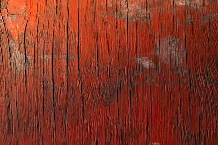 Texture of old wood painted in red. Background image. 版權商用圖片
