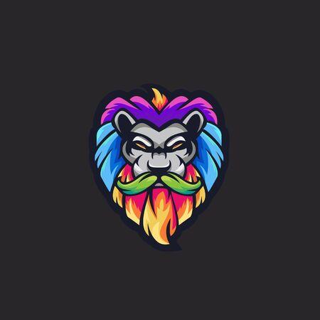 Logo of colorful lion Ilustração