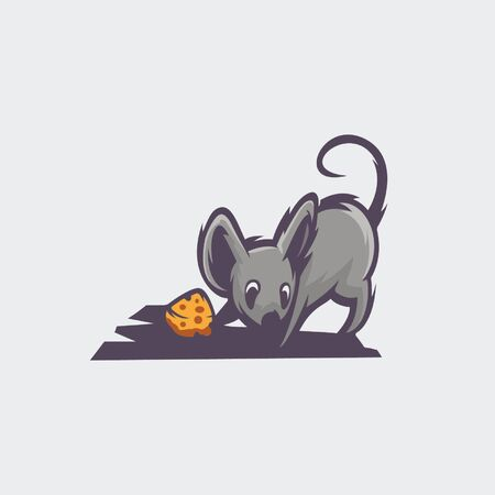 Animal logo with mouse design