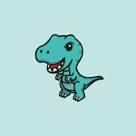 Animal logo with blue dinosaur