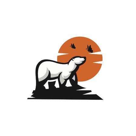 Animal logo with white bear