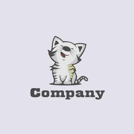 Cute cat logo design