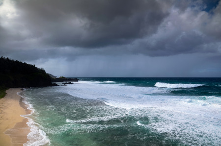 pascal: Rough seas in Gris Gris, Mauritius