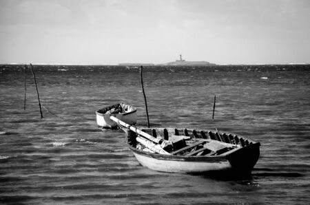 fishing boats: Wooden fishing boats