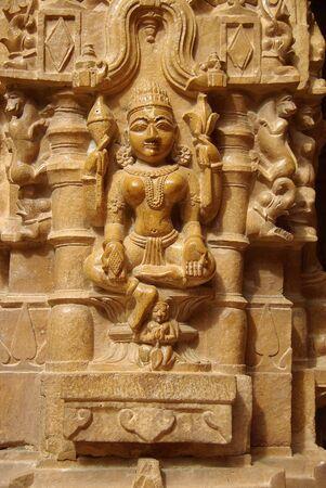 Statue in Jain temple, Rajasthan photo