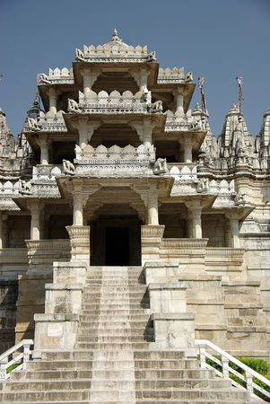 Temple of Ranakpur, Rajasthan Stock Photo