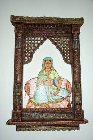 Mural painting in Udaipur Stock Photo
