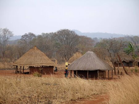 African village in Mozambique photo