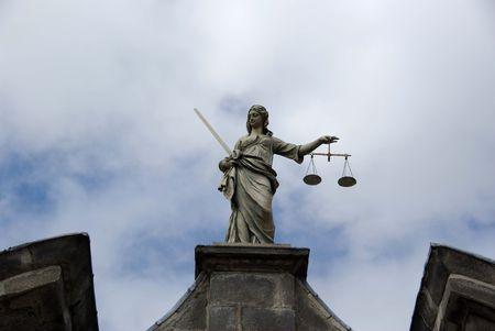 Statue in the Dublin castle, Ireland photo