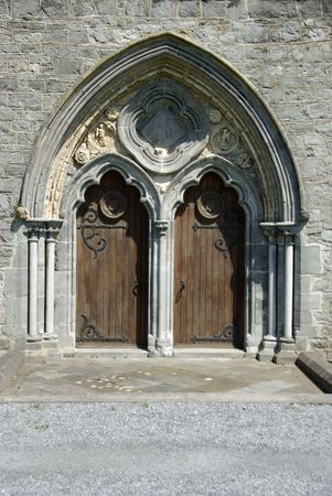 Church door, Ireland photo