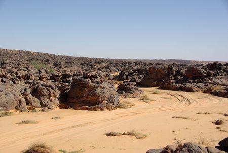 libysch: Strecke in der libyschen W�ste